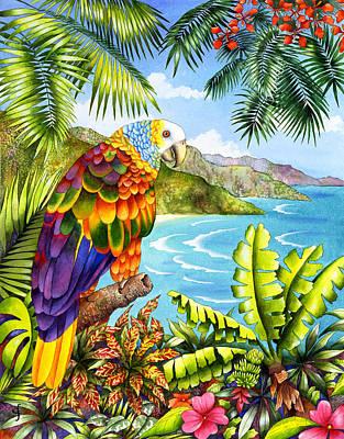 Parrots Photograph - Vinnies Vista by Carolyn Steele