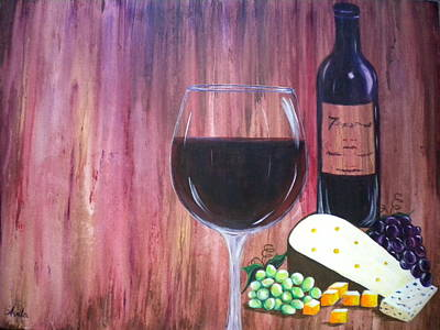 Vino Print by Abigail Avila