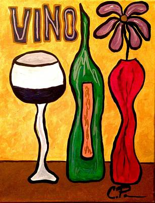 Painting - Vino by Chrissy  Pena