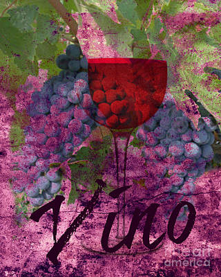 Digital Art - Vino by Mindy Bench