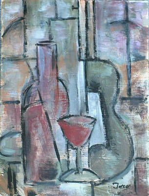 Painting - Vino Rojo by Trish Toro