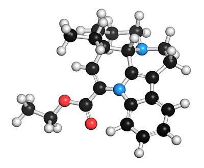 Vinpocetine Molecule Art Print by Molekuul
