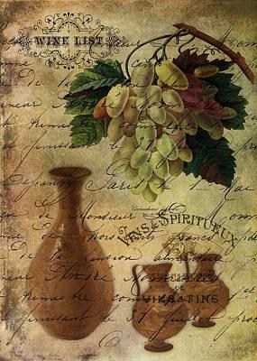 Vins Spiritueux Nectar Of The Gods Art Print