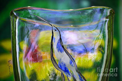 Flight Glass Art - Vinsanchi Glass Art-1 by Vin Kitayama