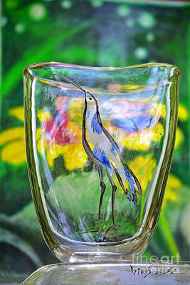 Abstract Glass Art - Vinsanchi Glass Art-2 by Vin Kitayama