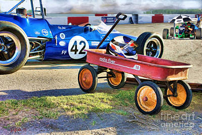 Open-wheel Photograph - Vintage 17 by Tom Griffithe