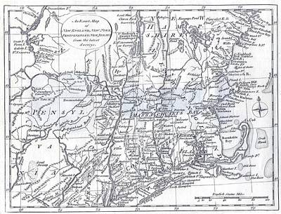 Sheep - Vintage 1778 New England Map by Dan Sproul
