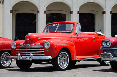 Havana Photograph - Vintage 1947 Ford Super Deluxe Convertible In Havana Cuba  by Rob Huntley