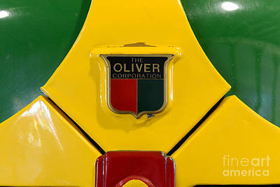 Antique Tractors Photograph - Vintage 1950 Oliver Tractor Emblem by Paul Ward