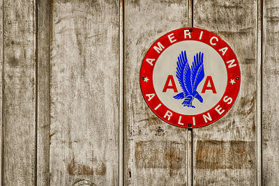 Airlines Photograph - Vintage 1950's American Airlines Porcelain Sign by Carter Jones