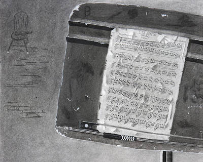 Old Sheet Music Drawing - Vintage by Aaron Kittredge