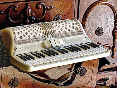 Vintage Accordion Art Print by Chris Anderson
