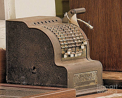 Photograph - Vintage Adding Machine by Janice Drew