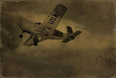 Transportation Mixed Media - Vintage Air Force Flight World War Two by Dan Sproul