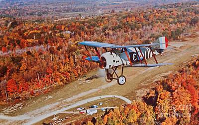 Photograph - Vintage Airplane Postcard Art Prints by Valerie Garner