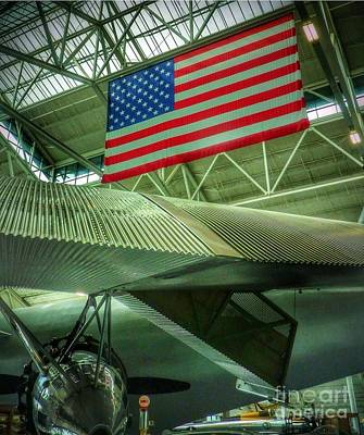 Photograph - Vintage Airplane Wing  by Susan Garren