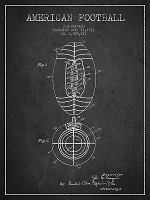 Football Digital Art - Vintage American Football Patent Drawing from 1923 by Aged Pixel