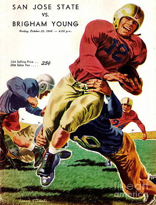 Photograph - Vintage American Football Poster by R Muirhead Art
