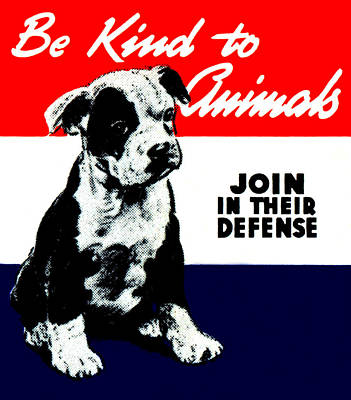 Painting - Vintage Animal Kindness Poster by Historic Image