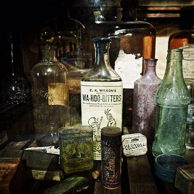 Grist Mill Photograph - Vintage Apothecary by Natasha Marco
