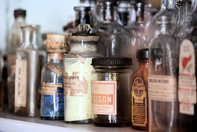 Photograph - Vintage Apothecary Shelf by Suzie Banks