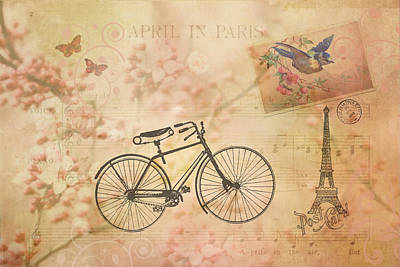 Vintage April In Paris Art Print