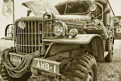 Photograph - Vintage Army Ambulance Photography by Ann Powell