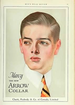 Vintage Arrow Shirts Advert Art Print
