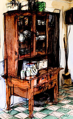Photograph - Vintage Artsy Kitchen Cupboard by Liane Wright