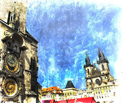 Photograph - Vintage Astronomical Clock by Brenda Kean