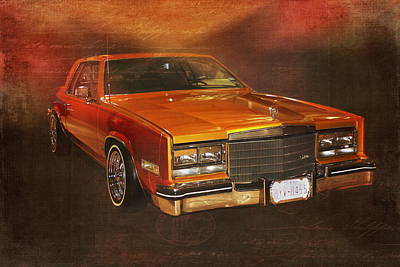 Customized Digital Art - Vintage Automobile 1970s Cadillac Low Rider by Terry Fleckney