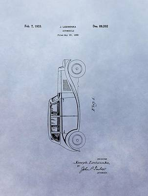 Antique Automobiles Mixed Media - Vintage Automobile Patent by Dan Sproul