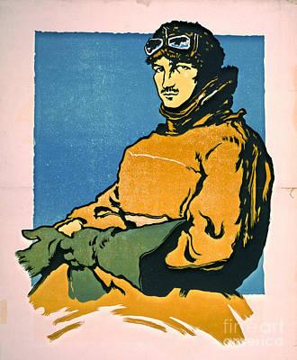 Linoleum Photograph - Vintage Aviator 1916 by Padre Art