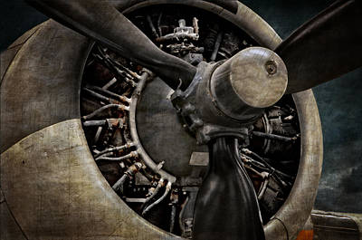Photograph - Vintage B 17 Engine by Ken Smith