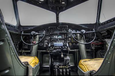 B17 Photograph - Vintage B17 Cockpit by Puget  Exposure