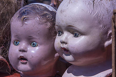 Doll Photograph - Vintage Baby Doll Heads by Garry Gay