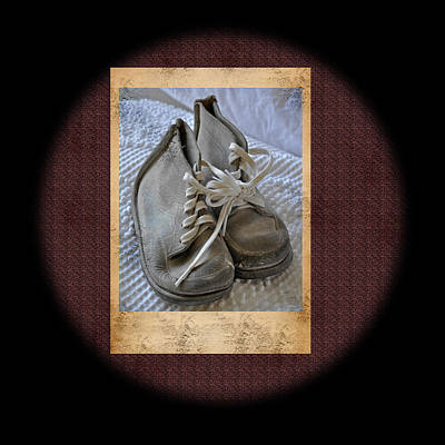 Photograph - Vintage Baby Shoes by Valerie Garner