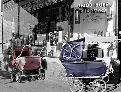 Photograph - Vintage Baby Strollers by Andrew Fare
