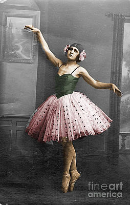 Photograph - Vintage Ballerina  by Lyric Lucas