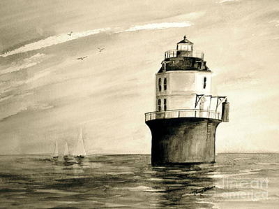Painting - Vintage Baltimore Lighthouse  by Nancy Patterson