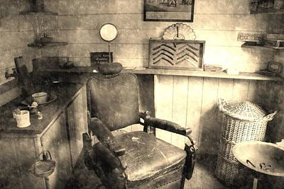 Old House Photograph - Vintage Barber by Andrew Hunt
