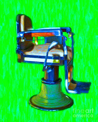 Haircut Digital Art - Vintage Barber Chair - 20130119 - V2 by Wingsdomain Art and Photography