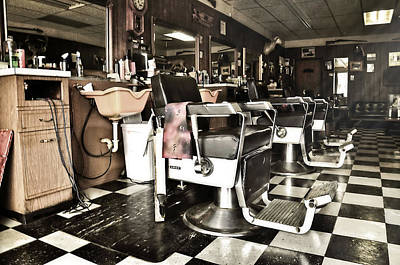 Photograph - Vintage Barber Shop by Ken Smith