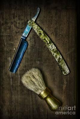 Vintage Barber Tools Art Print by Paul Ward