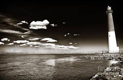 Nj Photograph - Vintage Barnegat Lighthouse by John Rizzuto