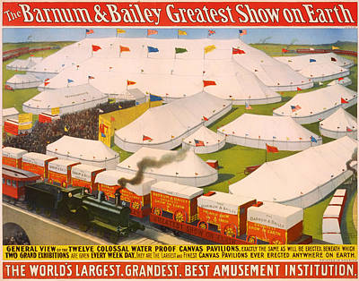 1890s Drawing - Vintage Barnum And Bailey Poster by Mountain Dreams