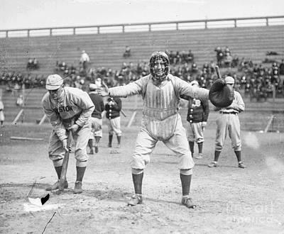 Mixed Media - Vintage Baseball by R Muirhead Art