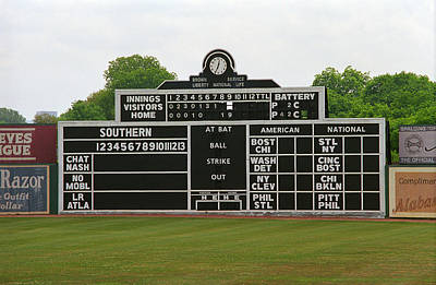 Photograph - Vintage Baseball Scoreboard by Frank Romeo