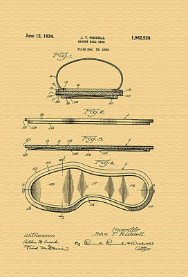 Tennis Shoes Photograph - Vintage Basketball Shoe Patent - 1932 by Mountain Dreams