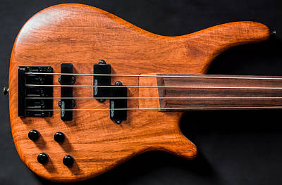Photograph - Vintage Bass Guitar Body by Semmick Photo